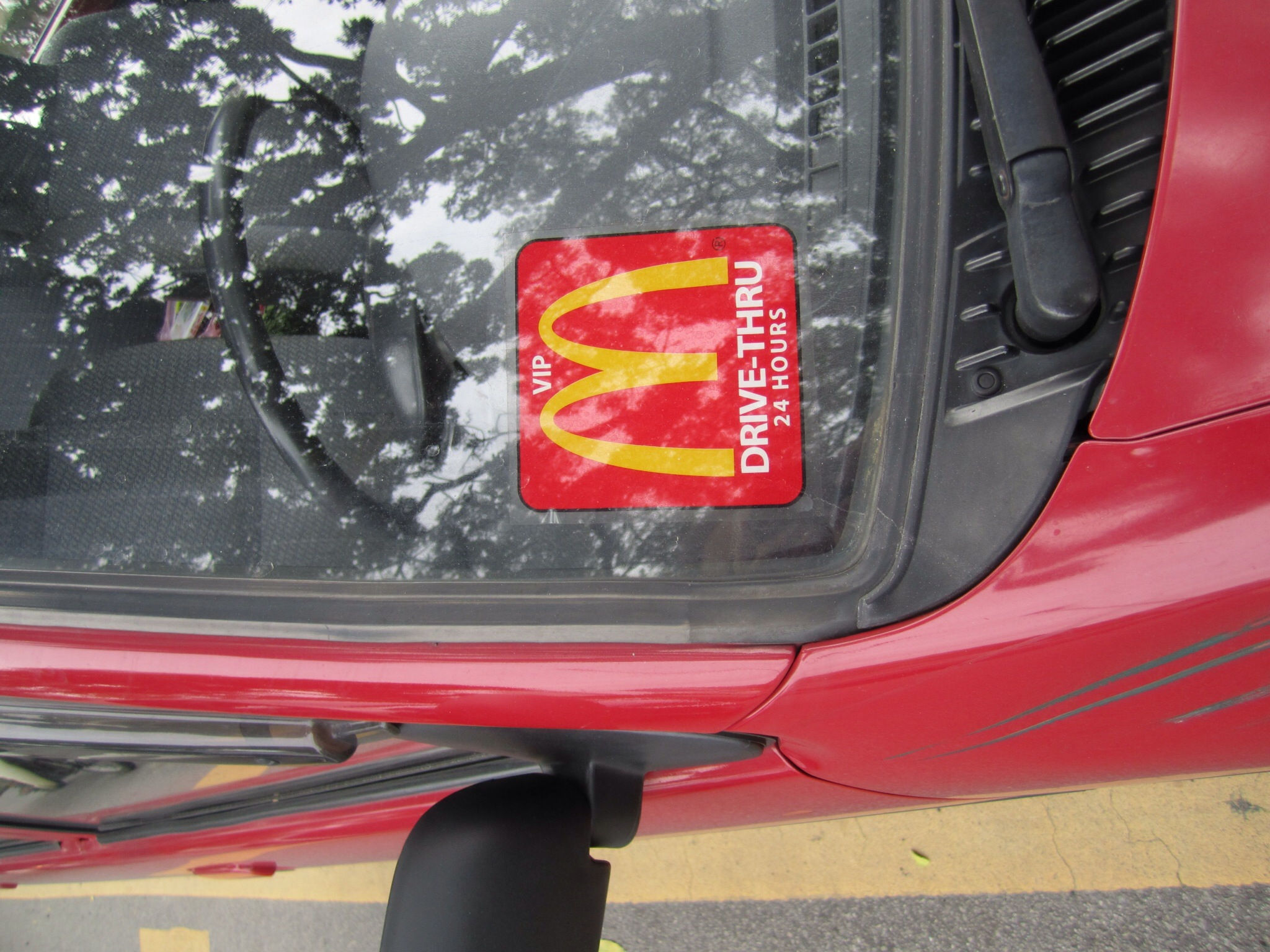 mcd drive thru sticker